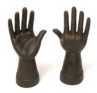 Set 2 Cast Iron Hands Jewelry Ring Holders Grave Halloween Thing Party Gift - Halloween Set Ideas