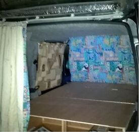 Camper van fold out bed, mattress, curtains & accessories for Berlingo / Partner
