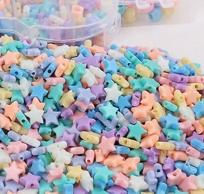 200pcs Acrylic Stars Beads Spacer DIY Bracelet Jewelry Kids Beaded Findings](Plastic Star Beads)