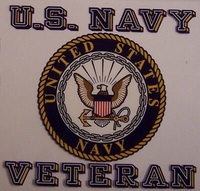 Window Bumper Sticker Military Navy Veteran NEW Decal