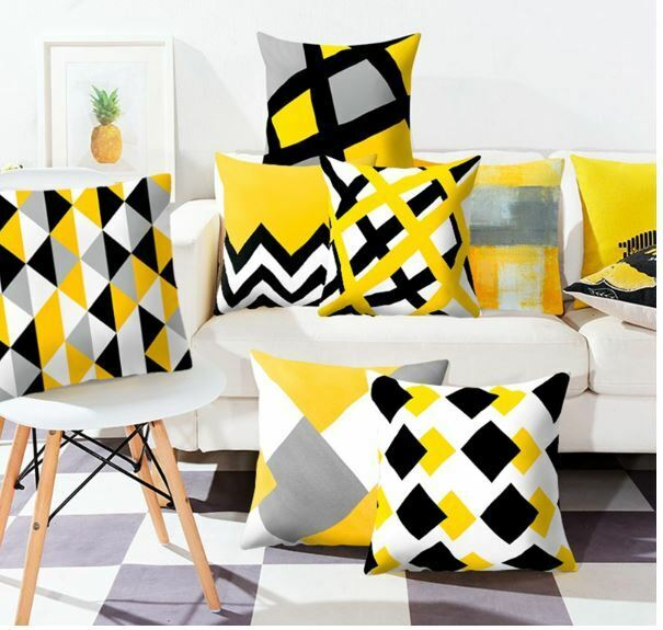 Geometric Marble Texture Pillow Case Waist Throw Square Cushion Cover Home Decor