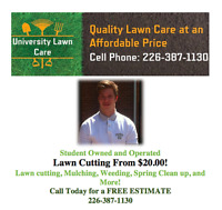 University Lawn Care, Lawn Care and More. Best Price Guarantee!