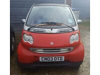 Smart for two 2003 Spares or repair