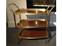 Classic Gold and Wood drinks trolley