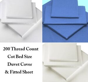 New Egyption Cotton 200 Thread Count COT BED Duvet Cover