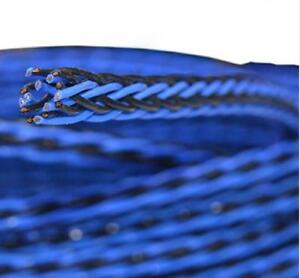 One Meter Blue 8TC 16cores twist cable OCC Copper Wire Cable for Speaker cable