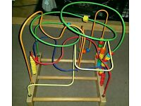 Wooden bead track