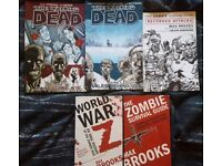Collection of 5 zombie books.