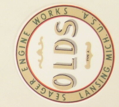 Set Of 2 Peel Of Decals Olds Hit Miss Engine Model 4 12 Flywheels