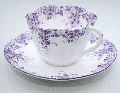 Shelley England Dainty Mauve Purple 051/M Cup and Saucer Set
