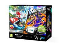 Wii U Console 32GB + Mario Kart 8 + Splatoon