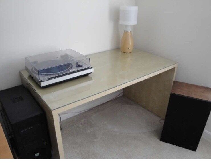 Ikea Mikael Glass Top Desk In Otley West Yorkshire Gumtree