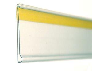 100 Stück Etikettenhalter 30x105mm selbstklebend