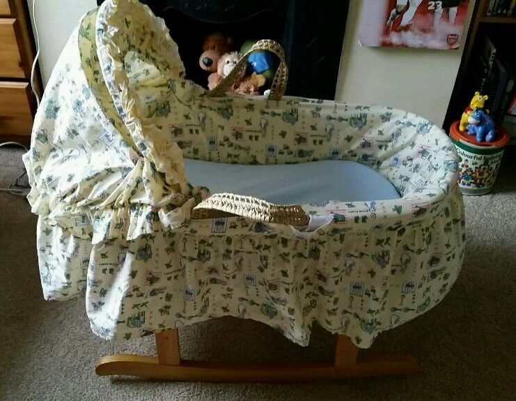 Mothercare Peter Rabbit rocking moses basket