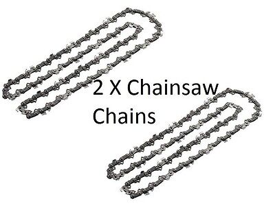 "2 x Chainsaw Chain for B&Q PERFORMANCE POWER PRO38CCCSA PRO42CCCSA 18""/ 45CM"