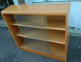 Glass fronted solid wood storage/display cabinet