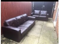 2 and 3 seater brown leather sofas can deliver