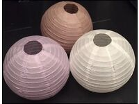 BAMBOO PAPER LANTERNS 40 IN TOTAL Brand New With Tags 3 Colours