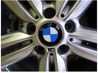 BMW alloy wheel centre cap badges and m sport detailing 5x120 bundle SPECIAL OFFER mv1 mv2 MV3