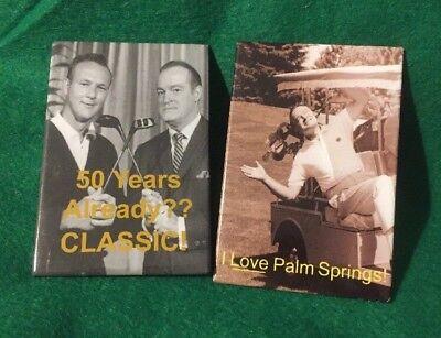"""Bob Hope Palm Springs Golf Classic Pin 3"""" X 2"""" Pinback 2"""