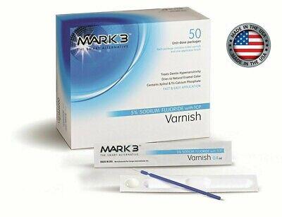 Varnish 5 Sodium Fluoride W Tcp Box Of 50 By Mark3 Bubblegum - Made In Usa