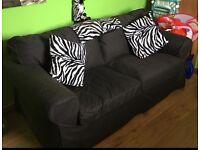 Black 2 seater sofa material
