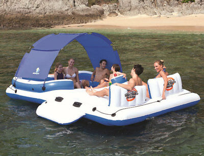 PVC 6-8 Person Fishing Swimming Water Sport Inflatable Boat Rest Floating Island for sale  Shipping to Canada