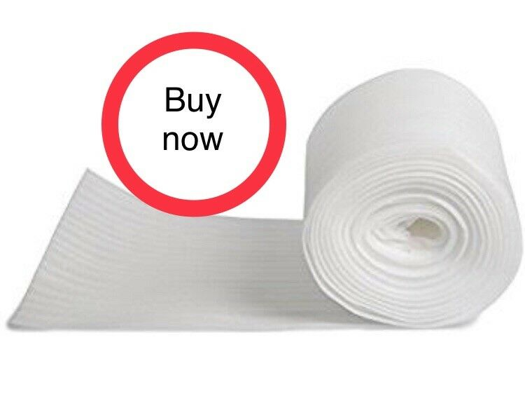 "100 Foot Foam Roll! 1/16"" Thick/12"" Wide! Perforated Every 12"" Foam Wrap"
