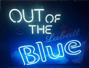 """Neon Sign - """"Out of the Blue"""" (Labatt)"""