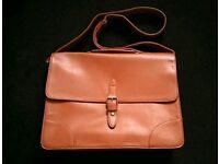 Asos brown man briefcase bag