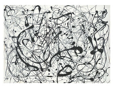 Number 14: Gray by Jackson Pollock Art Print Abstract Poster 11x14