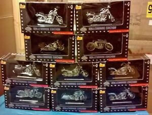 Harley Davidson limited edition set of 12 all chrome motorcycle