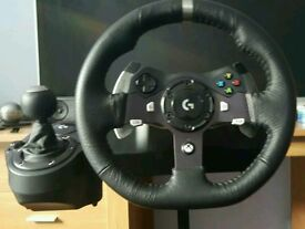 Logitech g920 with gearstick and stand
