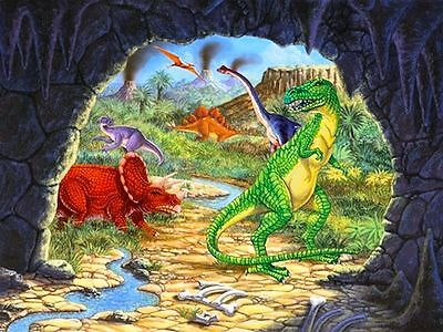 Wall Scenes For Parties (Party Decoration Wall Mural Diggin' For Dinos Party Scene Setter 120cm x)
