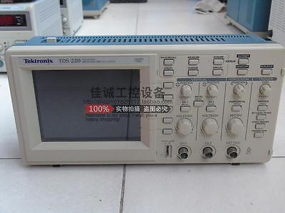 Tektronix Tds220 100mhz 2 Channel Digital Real Time Oscilloscope Ship Express