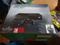 Xbox One 2015, 500gb w/witcher 3, boxed, 2 controllers, games optional