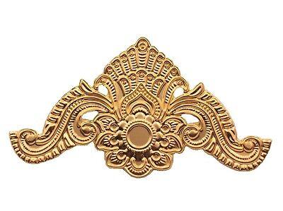 Möbelbeschlag Ecke Antikbeschlag Eckbeschlag Gold Zierbeschlag  Beschlag Blech