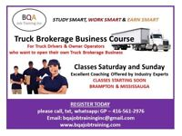 TRUCK DRIVERS/OWNER OPERATORS WANT TO START OWN BROKERAGE-COURSE