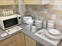 Kitchen set . everything in picture. 1 month old and hardly used