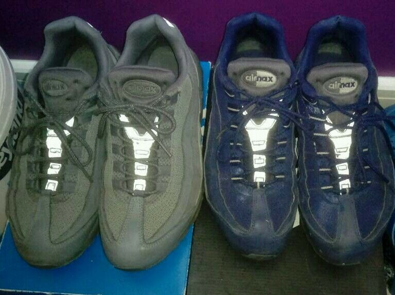 newest d8a13 92241 ... coupon code for 2 pair of used nike air max 95s both size 9.5 uk ef4ed