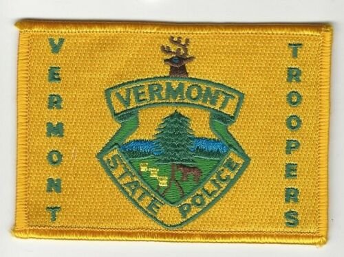 Vermont State Police Rectangular patch Colorful