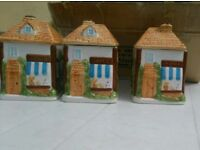 Set of tea coffee sugar containers