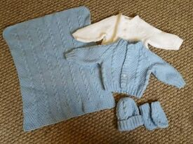 New Knitted Cardigans, Hat And Gloves, Blanket