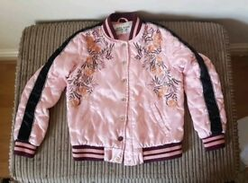 Riverisland pink jacket age 7/8