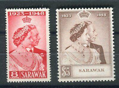 Sarawak KGVI 1948 Royal Silver Wedding set SG165/6 MNH