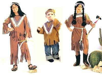 Kinder Western Kostüm (Indianer Kinder-Kostüm Größe 92 - 152 Western Indianerkostüm Squaw Indianerin)