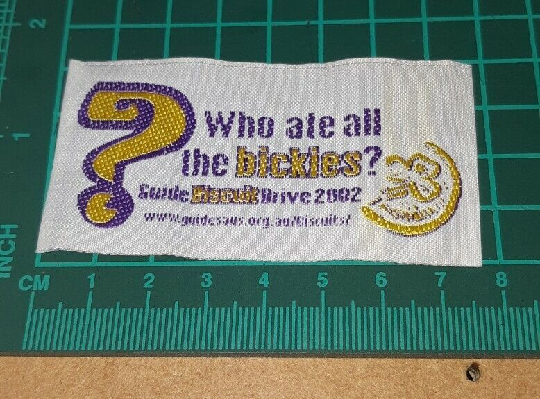 Who ate all the bickies 2002 Girl Guide Biscuit Badge.
