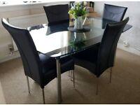 Harvey's glass furniture set