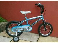 Boys Raleigh bike - with stabilisers