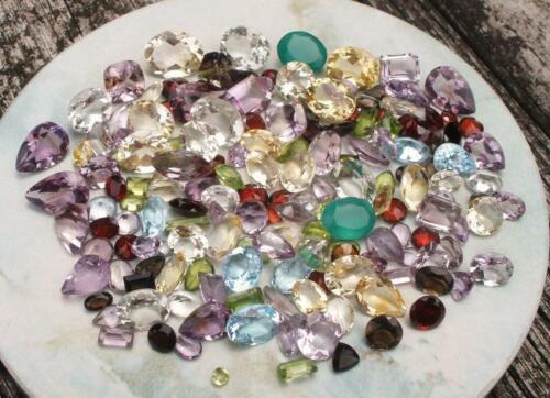 Over 150 Carats of Natural Gem Mix Loose Faceted  Parcel Lot